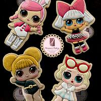 LOL Surprise dolls cookies