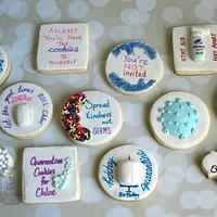 Chloe's quarantine birthday cookies