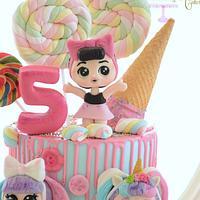Lol's surprise doll cake