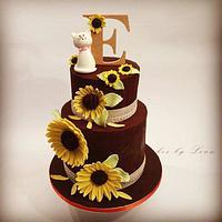 Sunflowers cake