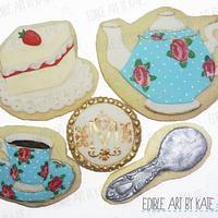 Vintage Tea Set Cookies