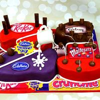 Chocolate brands cake