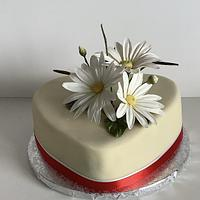 Cake with daisies by Anka