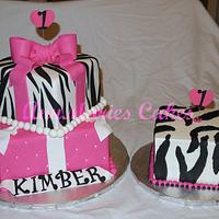 Zebra and Pink 1st Birthday