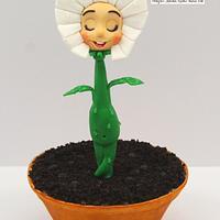 Margarita Flower Pot Cake