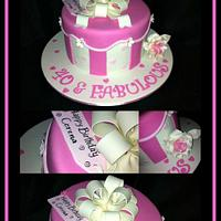 Fabulous and 40 Cake
