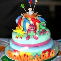 barney and friends birthday cake