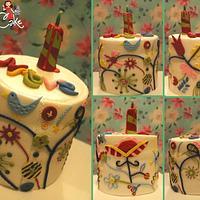 Bird, Buttons & Flowers x by DusiCake