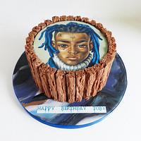 XXXtentacion edible image cake