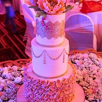 Peachy Love - Wedding Cake