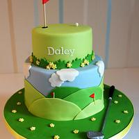 Golf themed cake for my boyfriends birthday