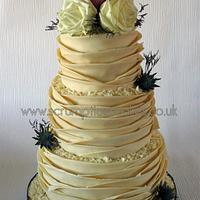 White Chocolate Wrap Wedding Cake