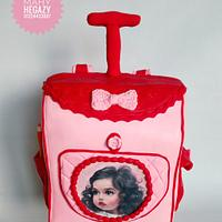 Girl bag cake.. School bag cake