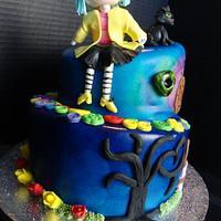 Coraline Birthday Cake