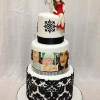 Damask 18th birthday cake