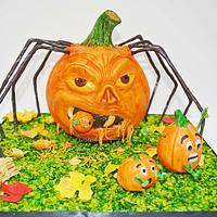 Spooky Spider in Pumpkin costume!