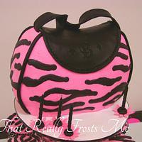 Pink Zebra Print Purse