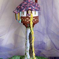 Rapunzel Tower Cake & Cookies