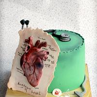 Cardiology themed cake