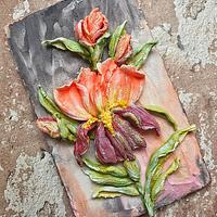 Edible sculpture flowers painting