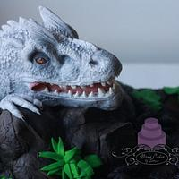 Solid Modeling Chocolate Indominus Rex birthday cake