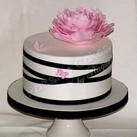 Peony cake by Passion Cakes By Raquel