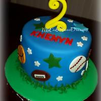 All Sports Birthday Cake & Cupcakes