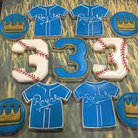 Royals baseball cookies