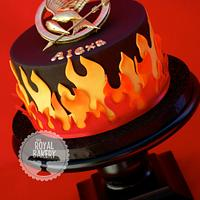 Hunger Games Cake on Fire!