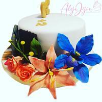 Torta flores y herradura