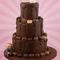 Drippy Chocolate Wedding Cake