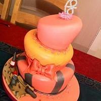 3 Tier Topsy Turvey cake by GazsCakery