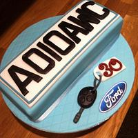 Number plate cake