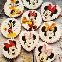 Minnie and Mikey Mouse cookie set