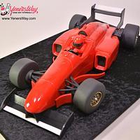 3D Formula One Racing Car Cake