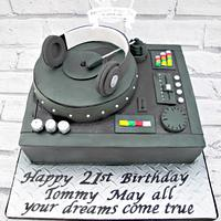 DJ Mixing Deck cake