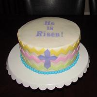 Easter Chevron Cake by Jaybugs_Sweet_Shop