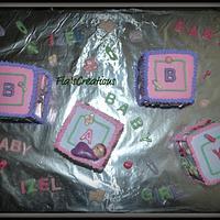 Baby Shower Block Cake