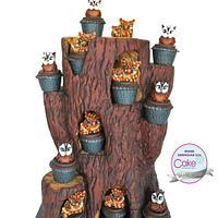 Cake International Birmingham 2016 OWL TREE - Silver Medal