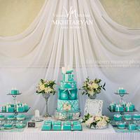 Tiffany style Dessert table