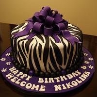 Trendy Zebra Cake