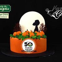 Snoppy Halloween cake