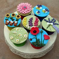 Cottage Garden Cupcakes