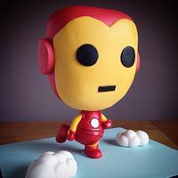 Iron Man Chibi Cake