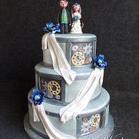 Animatronics wedding cake