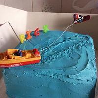 wake boarding cake