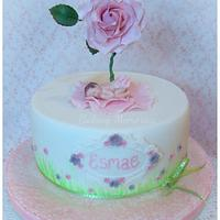 Christening cake for baby Esmae