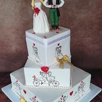 Wedding cake in ethno style