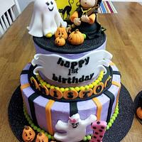Halloween 1st Birthday w/Smash Cake