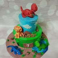 Dinoausour theme cake